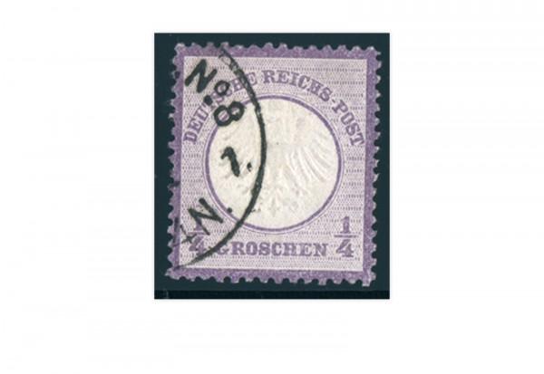 Briefmarke Deutsches Reich Brustschild 1872 Michel-Nr. 1 gestempelt