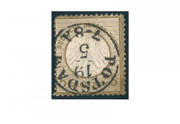Briefmarke Deutsches Reich Brustschild 1872 Michel-Nr. 6 gestempelt