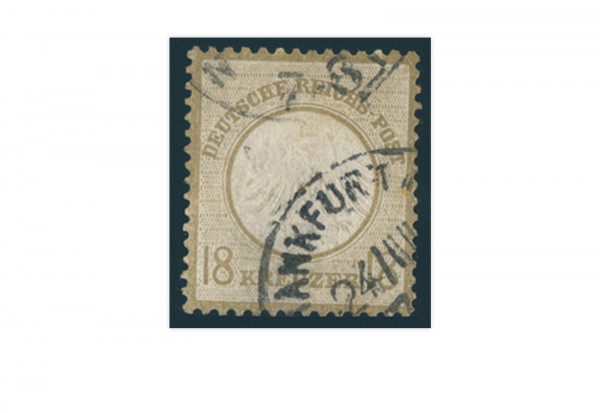 Briefmarke Deutsches Reich Brustschild 1872 Michel-Nr. 11 gestempelt