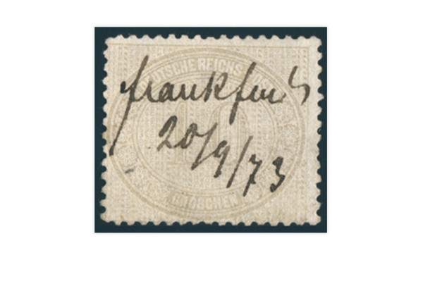 Briefmarke Deutsches Reich Brustschild 1872 Michel Nr. 12 gestempelt
