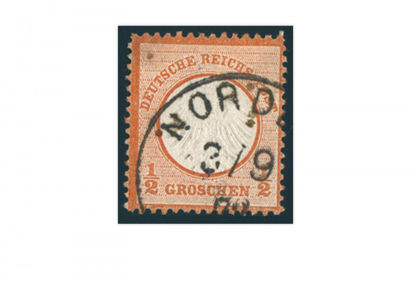 Briefmarke Deutsches Reich Brustschild 1872 Michel-Nr. 14 gestempelt