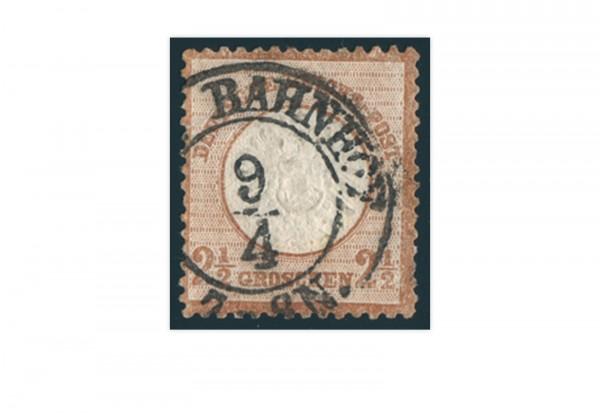 Briefmarke Deutsches Reich Brustschild 1872 Michel-Nr. 21 gestempelt
