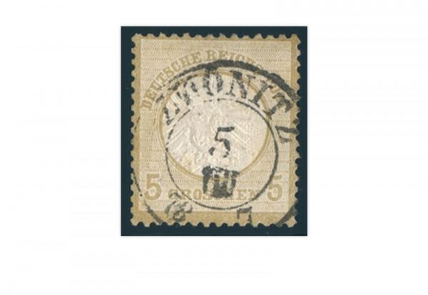 Briefmarke Deutsches Reich Brustschild 1872 Michel Nr. 22 gestempelt