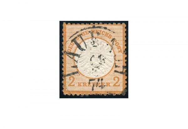 Briefmarke Deutsches Reich Brustschild 1872 Michel Nr. 24 gestempelt geprüft