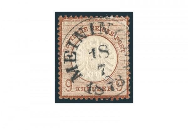 Briefmarke Deutsches Reich Brustschild 1872 Michel-Nr. 27 gestempelt