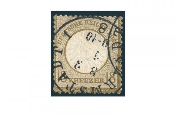 Briefmarke Deutsches Reich Brustschild 1872 Michel Nr. 28 gestempelt geprüft