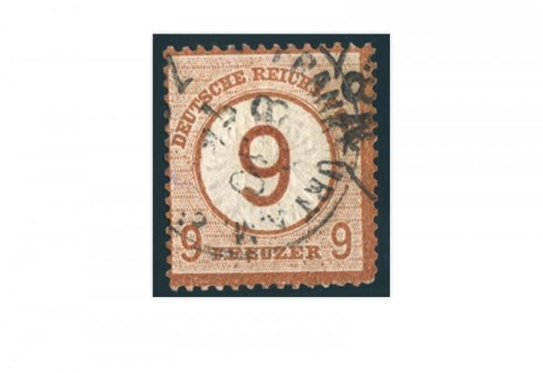 Briefmarke Deutsches Reich Brustschild 1872 Michel-Nr. 30 gestempelt