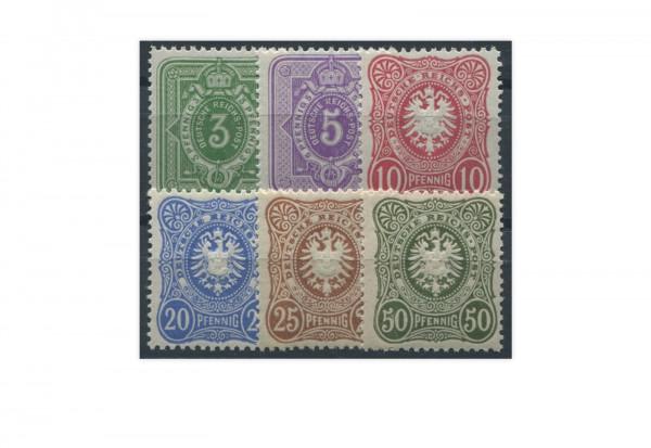 Briefmarken Deutsches Kaiserreich Reichsadler 1880 Michel Nr. 39/44 II postfrisch
