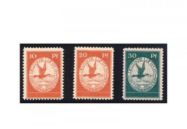 Briefmarken Deutsches Reich Flugpost 1912 Michel-Nr. I-III postfrisch