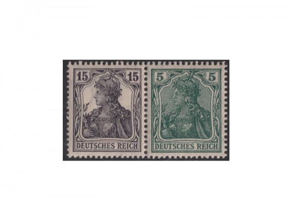 Briefmarken Deutsches Reich Michel-Nr. W 9 aa postfrisch waagerechter Zusammendruck
