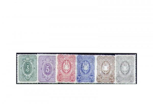 Briefmarken Deutsches Kaiserreich Reichsadler 1875 Michel-Nr. 31/36 Falz