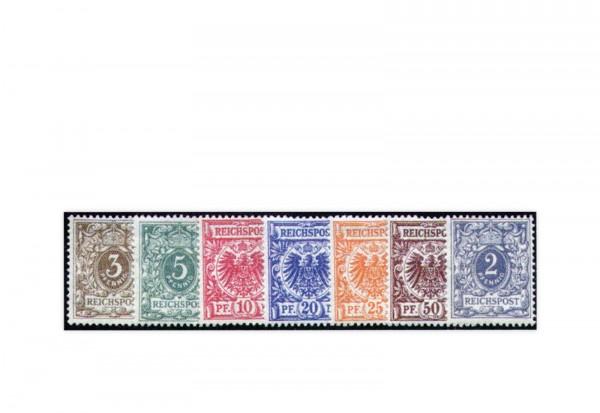 Briefmarken Deutsches Kaiserreich Krone/Adler 1889/1990 Michel-Nr. 45/50 und 52 Falz