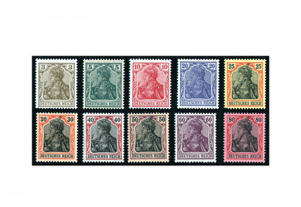 Deutsches Kaiserreich Germania IV 1915 Mi.Nr 84/93 II Falz