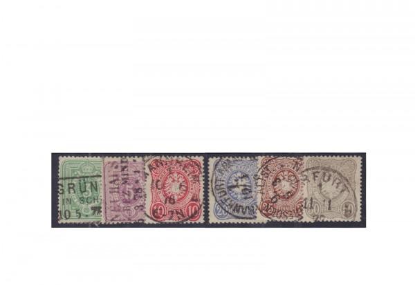 Briefmarken Deutsches Reich Kaiserreich 1875 Michel-Nr. 31/36 gestempelt