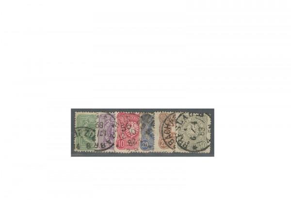 Briefmarken Deutsches Kaiserreich Reichsadler 1880 Michel-Nr. 39/44 II gestempelt