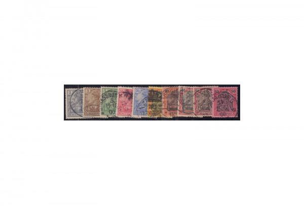 Briefmarken Deutsches Kaiserreich Germania 1899/1900 Michel-Nr. 53/62 gestempelt