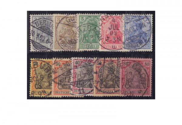 Briefmarken Deutsches Kaiserreich Michel-Nr. 68/77 gestempelt