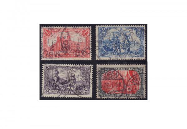 Briefmarken Deutsches Reich Michel-Nr. 78/81 gestempelt