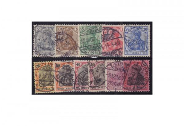 Briefmarken Deutsches Reich Michel-Nr. 83/93 I gestempelt