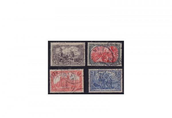 Briefmarken Deutsches Reich Kaiserreich 1905 Michel-Nr. 94/97 A I gestempelt
