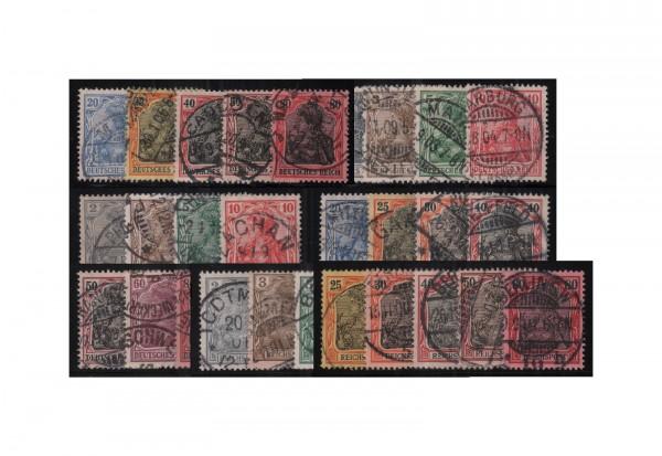 Briefmarken Deutsches Kaiserreich Germania Set 1900/05 Michel Nr. 53/62, 68/77 und 83/93 I gestempel