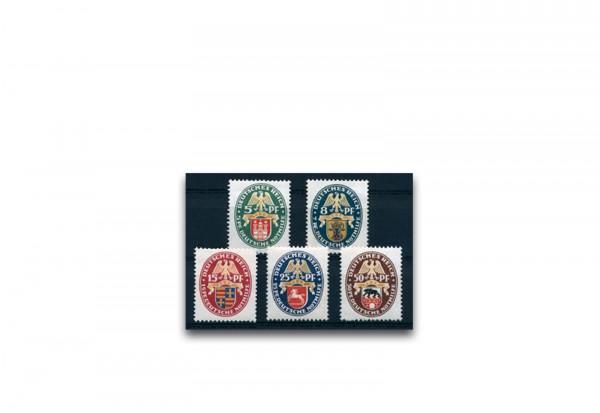 Briefmarken Deutsches Reich 1928 Michel-Nr. 425/429 postfrisch