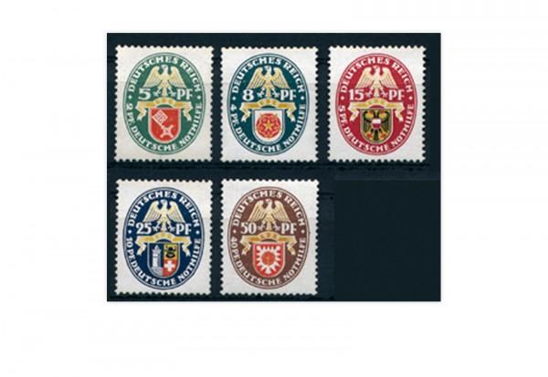 Briefmarken Deutsches Reich 1929 Michel-Nr. 430/434 postfrisch