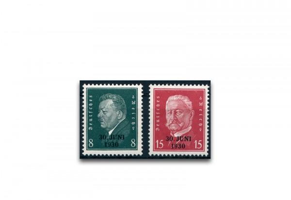 Briefmarken Deutsches Reich 1930 Michel-Nr. 444/445 postfrisch