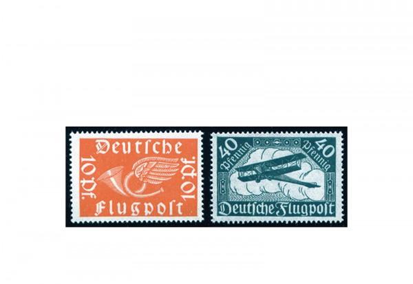 Briefmarken Deutsches Reich Flugpostkarten 1919 Michel-Nr. 111/112 postfrisch