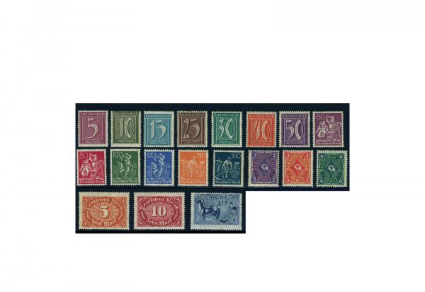 Briefmarken Deutsches Reich 1921 Michel-Nr. 158/76 postfrisch