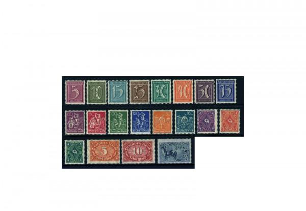 Briefmarken Deutsches Reich 1921 Michel-Nr. 177/196 postfrisch