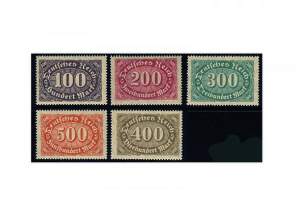 Briefmarken Deutsches Reich 1922 Michel-Nr. 219/23 postfrisch