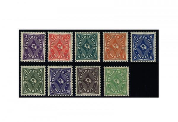Briefmarken Deutsches Reich Posthorn 1922 Michel-Nr. 224/32 postfrisch