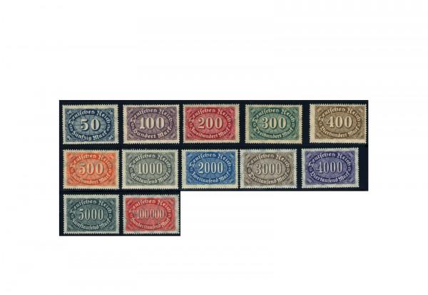 Briefmarken Deutsches Reich Freimarken 1923 Michel-Nr. 246/57 postfrisch