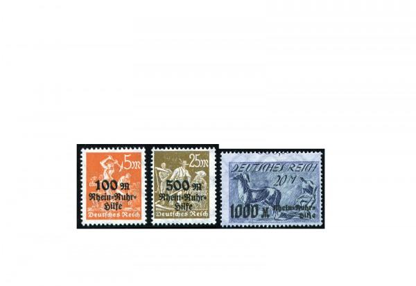 Briefmarken Deutsches Reich Rhein- und Ruhrhilfe 1923 Michel-Nr. 258/60 postfrisch
