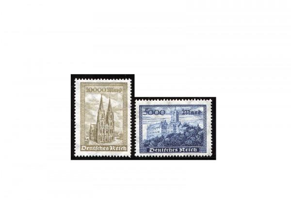 Briefmarken Deutsches Reich Freimarken Wartburg und Kölner Dom 1923 Michel-Nr. 261/2 postfrisch