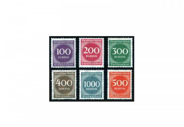 Briefmarken Deutsches Reich Freimarken 1923 Michel-Nr. 268/73 postfrisch