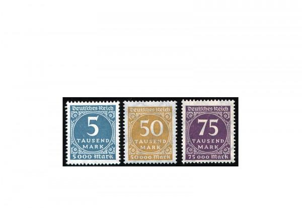 Briefmarken Deutsches Reich Freimarken 1923 Michel-Nr. 274/6 postfrisch