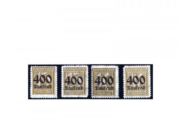 Briefmarken Deutsches Reich Notausgaben der Hochinflation 1923 Michel-Nr. 297/300 postfrisch