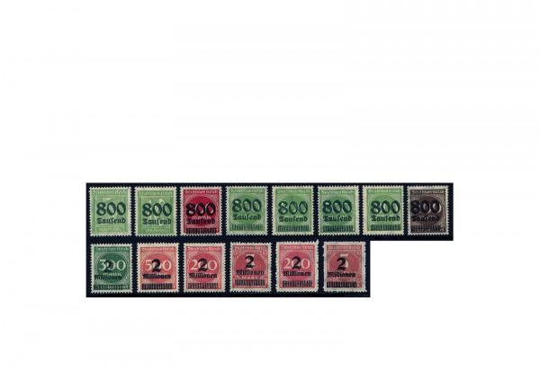 Briefmarken Deutsches Reich Notausgaben der Hochinflation 1923 Michel-Nr. 301/12 postfrisch