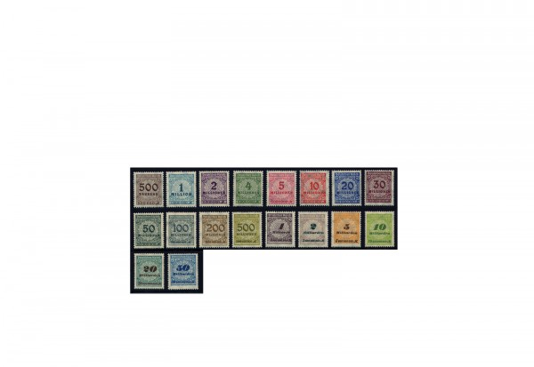 Briefmarken Deutsches Reich Notausgaben der Hochinflation 1923 Michel-Nr. 313/330 A postfrisch