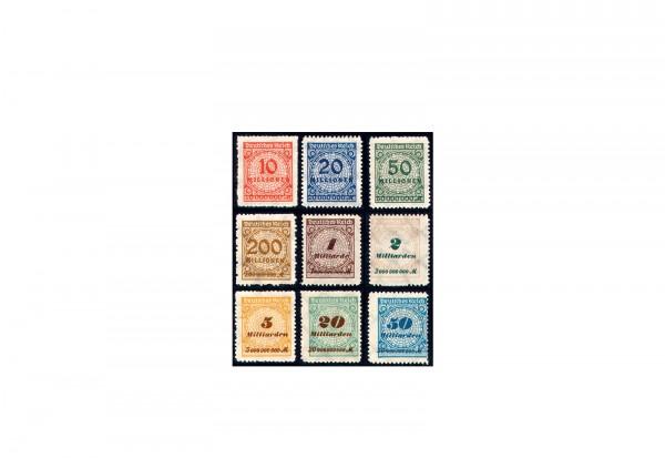 Briefmarken Deutsches Reich Notausgaben der Hochinflation Michel-Nr. 318/30 B postfrisch