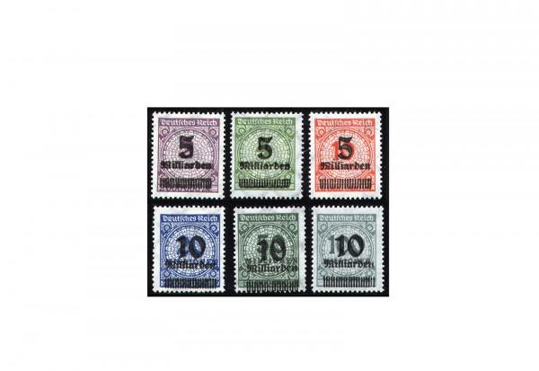 Briefmarken Deutsches Reich 1923 Michel-Nr. 332/7 A postfrisch