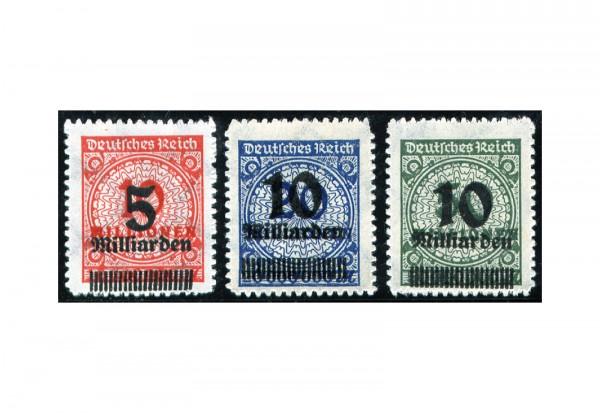 Briefmarken Deutsches Reich 1923 Michel-Nr. 334/6 B postfrisch