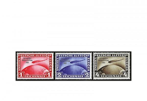 Briefmarken Deutsches Reich 1933 Michel-Nr. 496/498 postfrisch geprüft