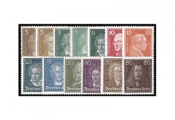 Briefmarken Deutsches Reich Köpfe berühmter Deutscher 1926 Michel-Nr. 385/397 postfrisch