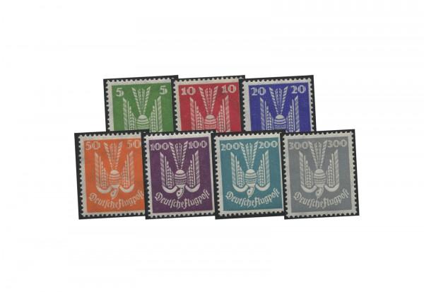 Briefmarken Deutsches Reich Holztaube 1924 Michel-Nr. 344-350 postfrisch