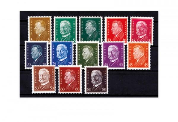 Briefmarken Deutsches Reich Reichspräsidenten I 1928 Michel-Nr. 410/422 postfrisch
