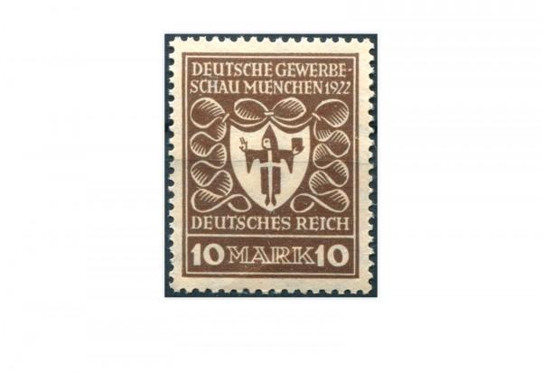 Briefmarke Deutsches Reich Deutsche Gewerbeschau 1922 Michel-Nr. 203 b postfrisch geprüft