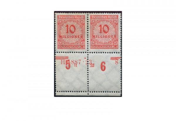 Briefmarken Deutsches Reich 1923 Michel-Nr. 318 HAN (VS) Doppelpack postfrisch